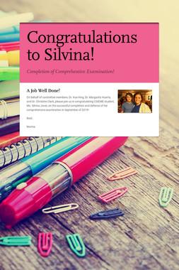 Congratulations to Silvina!