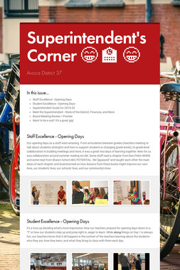 Superintendent's Corner 😁 🏫 😁