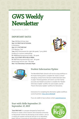 GWS Weekly Newsletter