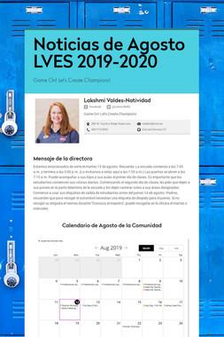 Noticias de Agosto LVES 2019-2020