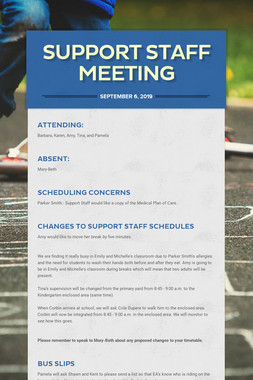 Support Staff Meeting