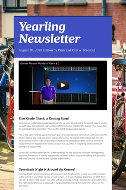Yearling Newsletter