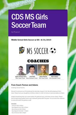 CDS MS Girls Soccer Team
