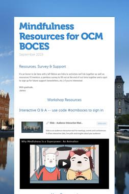 Mindfulness Resources for OCM BOCES