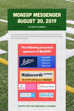 MoASSP Messenger August 30, 2019