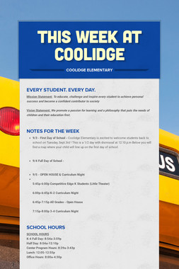 This Week At Coolidge