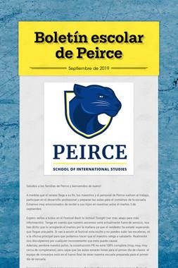 Boletín escolar de Peirce