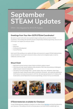 September STEAM Updates