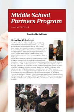 Middle School Partners Program