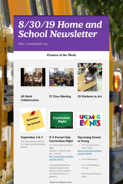 8/30/19 Home and School Newsletter