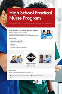 High School Practical Nurse Program