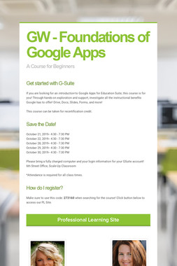 GW - Foundations of Google Apps