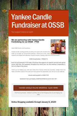 Yankee Candle Fundraiser at OSSB