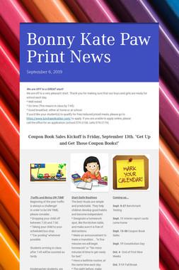 Bonny Kate Paw Print News
