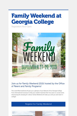 Family Weekend at Georgia College