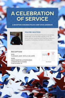 A Celebration of Service