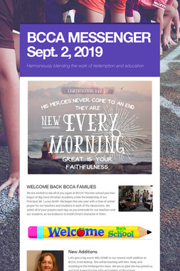 BCCA MESSENGER  Sept. 2, 2019