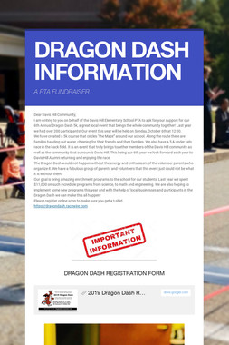 DRAGON DASH INFORMATION