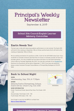 Principal's Weekly Newsletter