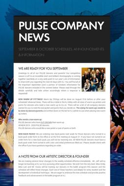 PULSE COMPANY NEWS