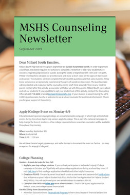 MSHS Counseling Newsletter