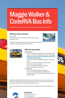 Maggie Walker & CodeRVA Bus Info