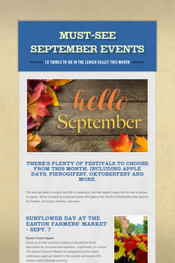 Must-See September Events