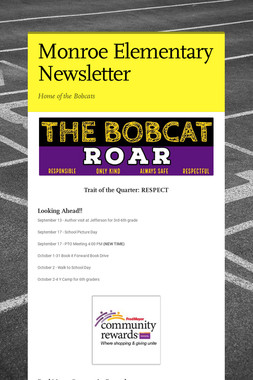 Monroe Elementary Newsletter