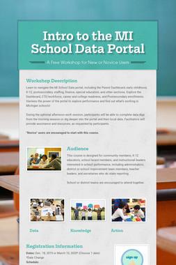 Intro to the MI School Data Portal