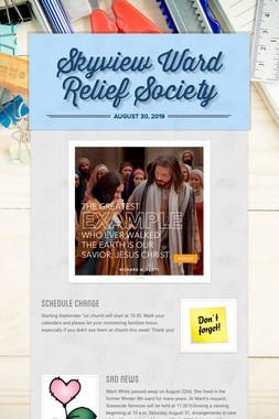 Skyview Ward Relief Society