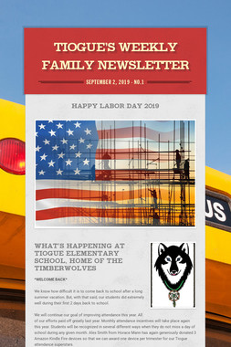 Tiogue's Weekly Family Newsletter