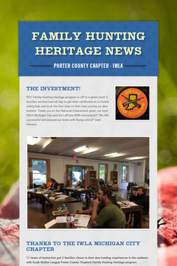FAMILY HUNTING HERITAGE NEWS