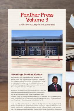Panther Press Volume 3