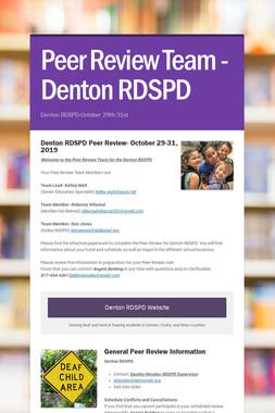 Peer Review Team -Denton RDSPD