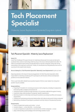 Tech Placement Specialist