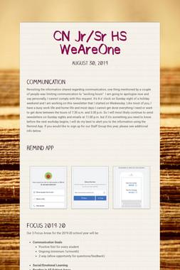 CN Jr/Sr HS WeAreOne