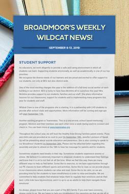 Broadmoor's Weekly  Wildcat News!