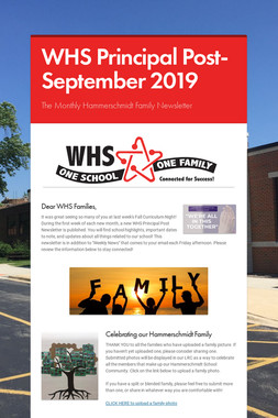 WHS Principal Post- September 2019