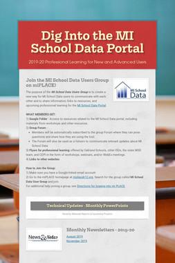 Dig Into the MI School Data Portal