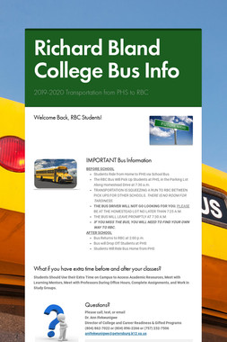 Richard Bland College Bus Info