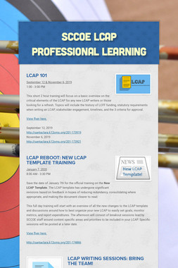 SCCOE LCAP Professional Learning