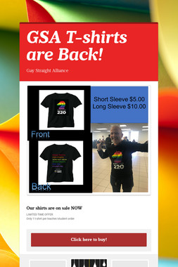 GSA T-shirts are Back!