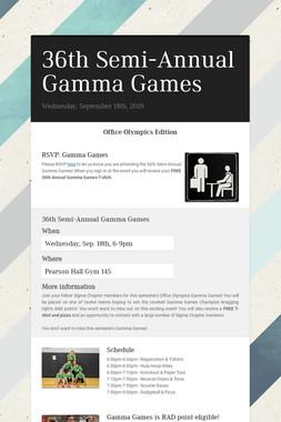 36th Semi-Annual Gamma Games