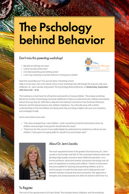 The Pschology behind Behavior