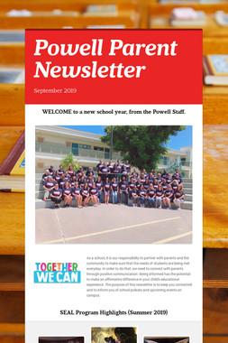 Powell Parent Newsletter