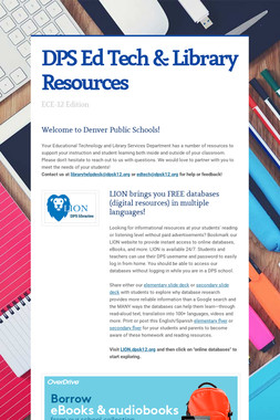 DPS Ed Tech & Library Resources