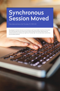 Synchronous Session Moved