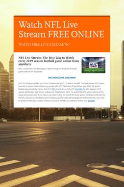 Watch NFL Live Stream FREE ONLINE