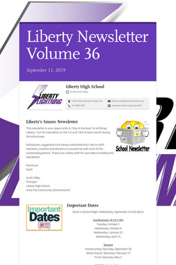 Liberty Newsletter Volume 36