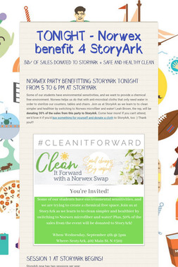 TONIGHT - Norwex benefit 4 StoryArk